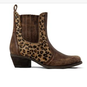 Sheridan Mia leopard and leather Siren bootie 8